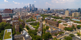 penn and philadelphia skyline